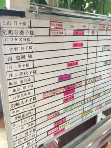 日中活動計画表