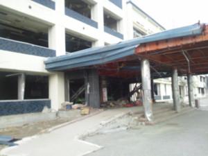 被災した旧市役所